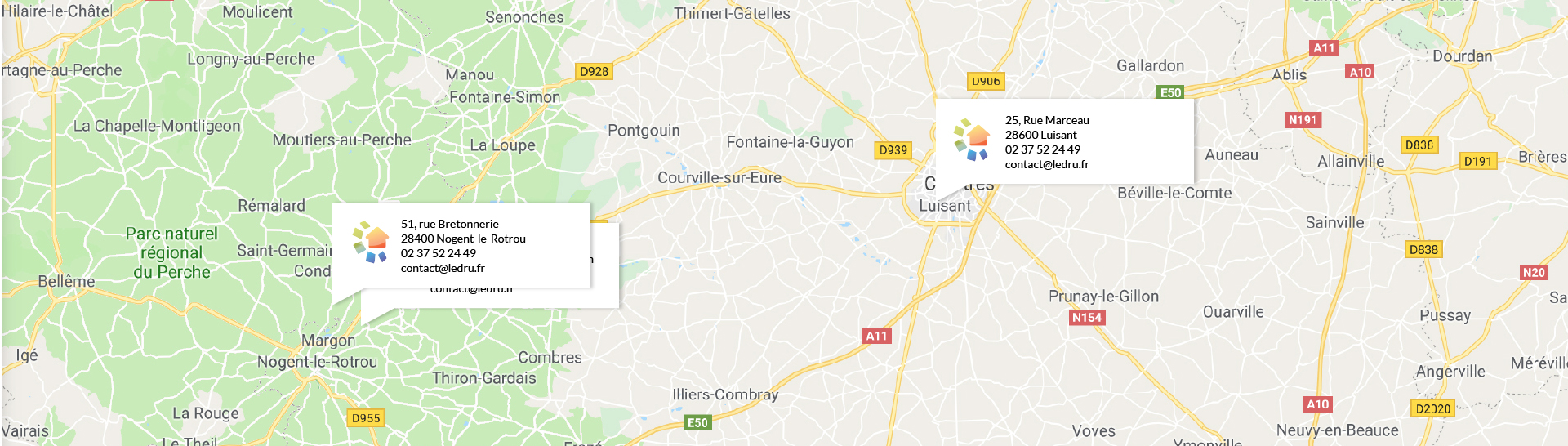 Carte Établissements LEDRU